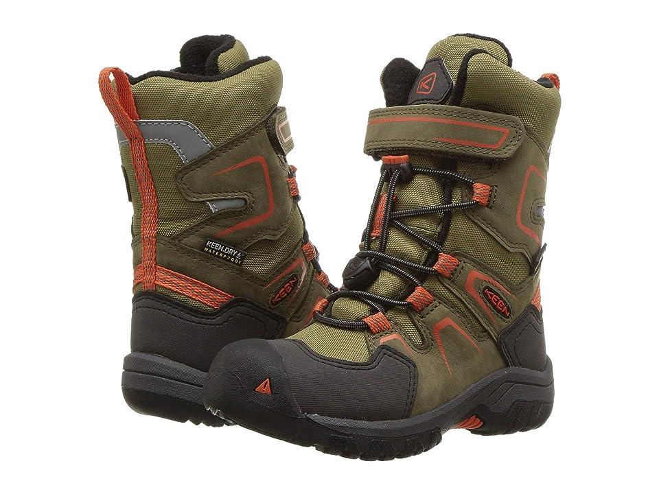 Keen Kids Levo Winter WP (Toddler/Little Kid) (Black Olive/Pureed Pumpkin) Boys Shoes