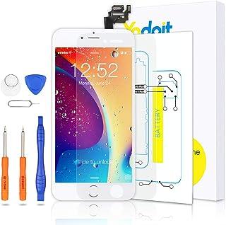 Yodoit Pantalla Completa para iPhone 6 Plus LCD Blanco, Ensamblaje de Reemplazo del Digitalizador con Piezas de Repuesto (...