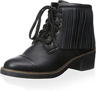 House of Harlow 1960 Women's Cutler Lace Up Ankle Boot with Fringes