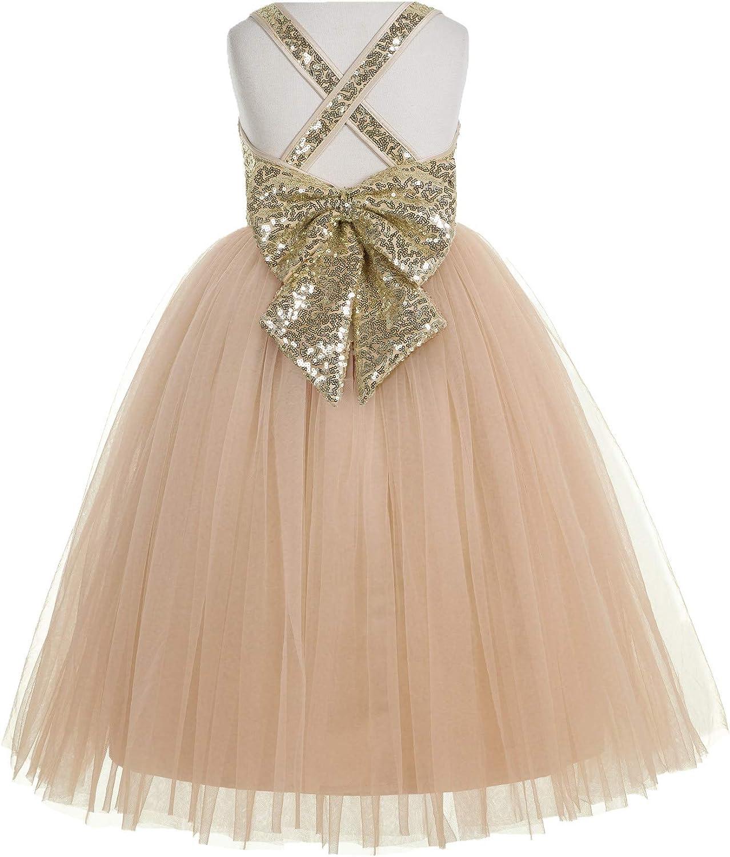 Max 73% OFF ekidsbridal Crossed Straps A-Line Recommended Toddler Pa Flower Girl Dresses
