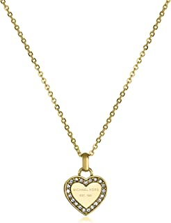 Tone Logo Heart Pendant Necklace
