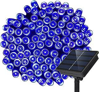 Solar String Lights, Dolucky 72ft 200 LED Waterproof Outdoor Decoration Lights (Blue)