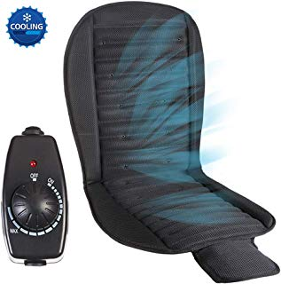 Big Ant Cooling Car Seat Cushion, 12V Automotive Universal Fit Seat Covers Full Size Ventilate Breathable Air Flow with Holes for Driver Seat, Vehicle Front and Back Seats in Hot Summer
