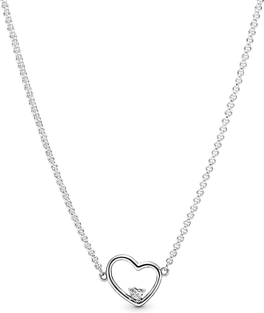 Pandora collana donna argento  con ciondolo 397797CZ-45