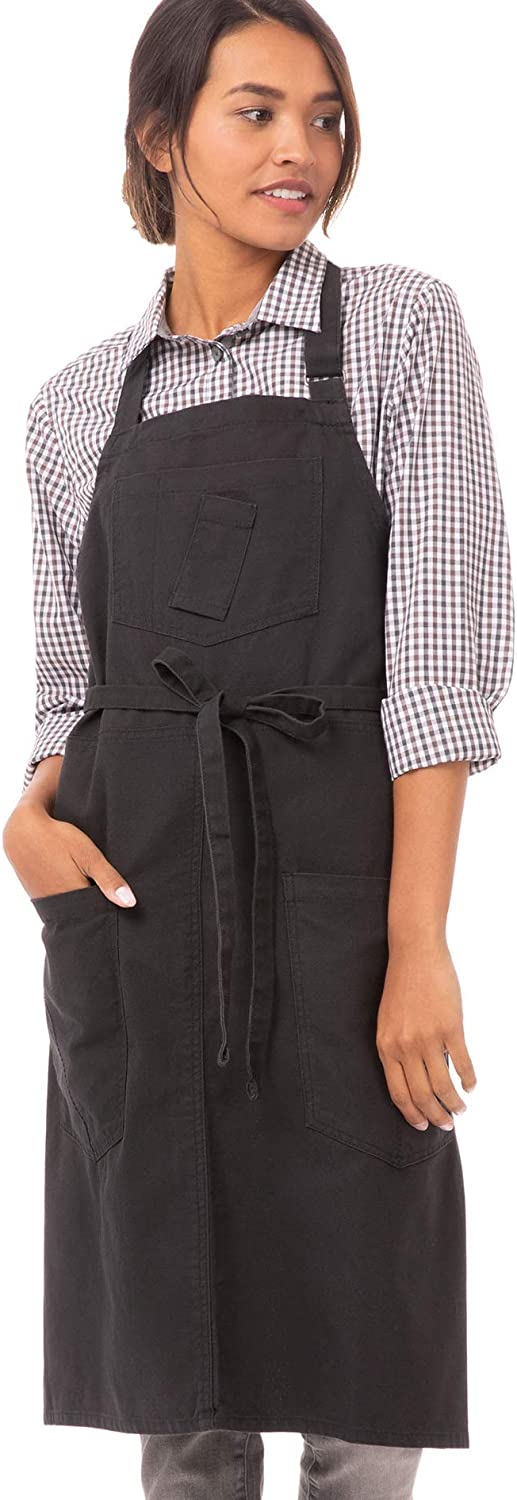Lowest price challenge Chef Works Unisex Rockford Bib Apron Gray Steel 0 ! Super beauty product restock quality top!