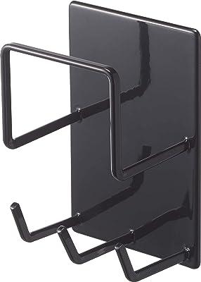 山崎実業(Yamazaki) マグネットバスルームクリーニングツールホルダー ブラック 約W8XD6XH12cm タワー 浴室ラック お風呂掃除収納 4977
