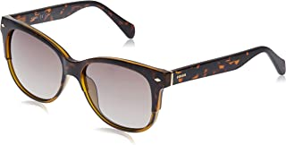 Fossil Women's 201257 Sunglasses, Color: Havanan Brown, Size: 54