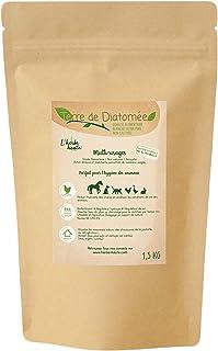 l'herbe Haute ® Terre de Diatomée Blanche Alimentaire - 1,5 kg Kraft - Utilisable en Agriculture Biologique - Origine Natu...