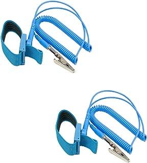 EVERMARKET(TM) Premium ESD Anti-Static Wrist Strap Components, Blue - 2 Packs