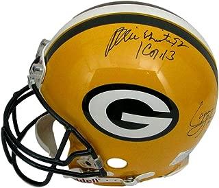 REGGIE WHITE BRETT FAVRE + Signed Packers Full Size Proline Helmet 144850 - JSA Certified - Autographed NFL Helmets