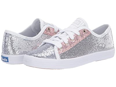 Keds Kids Kickstart Seasonal (Little Kid/Big Kid) (Color Block Sparkle) Girl