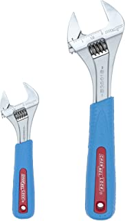 Channellock WS-2CB Wrench Set with Code Blue Grips, Chrome, 2-Piece