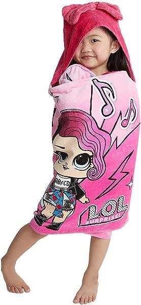 L O L Surprise Soft Cotton Hooded Bath Towel Wrap 24 X 50 Pink