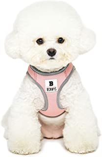THE ZOOS Thezoos Bennys Basic Harness Comfortable Vest Fit Simple Size Adjustment Easy Control Soft No Pull Dog All Weather for Puppies Small Medium Dogs