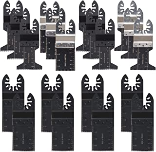 SILIVN Metal/Wood Oscillating Multitool Quick Release Saw Blades(20 Pack)