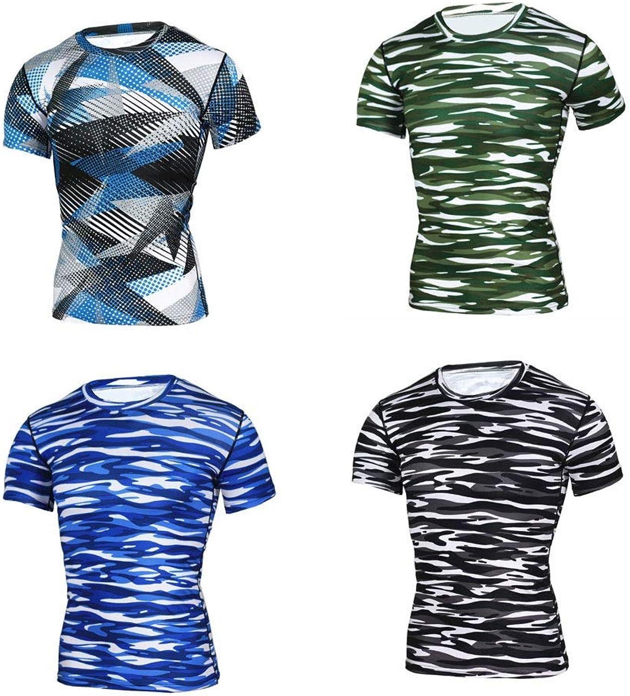 Lilongjiao Men's Two-Piece Four-Piece Sportswear Short-Sleeved Quick-Drying Men's T-Shirt Sports Top