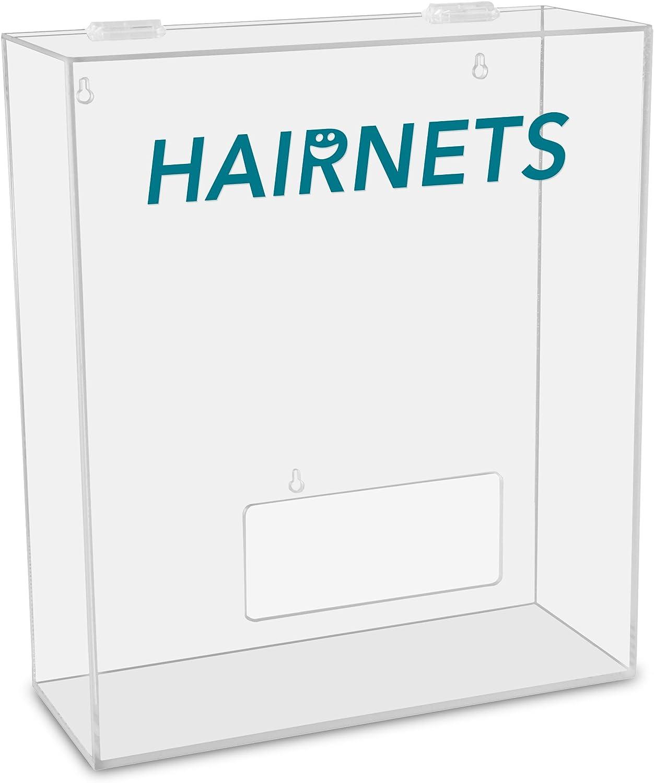TrippNT 51309 Hairnets Labeled Medium Apparel Dispenser, 15  Width x 18  Height x 6  Depth