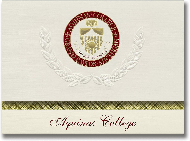 Signature Ankündigungen Aquinas College Graduation Ankündigungen, platin Stil, Elite Pack 20 mit Aquinas College Seal Folie B0793JXSWP    Sonderpreis
