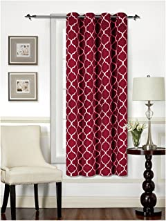 Mellanni Thermal Insulated Blackout Curtains - 1 Panel - Window Treatments/Drapes for Bedroom, Living Room with Silver Grommet and 1 Tieback (1 Panel, 52
