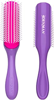 Denman Original Styler 7 Row - D3 (African Violet) for Detangling, Blow-drying, Styling & Smoothing the Hair