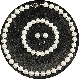 pearl earrings and bracelet