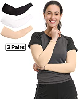 Arm Sleeves for Men Women, Cooling Sun Sleeves to Cover Arms, Prefect for Cycling Driving Golf Running