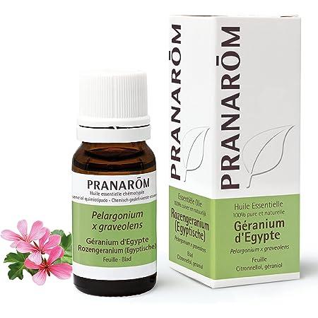 Pranarôm   Huile Essentielle Géranium d'Egypte   Pelargonium x graveolens   Feuille   HECT  10 ml