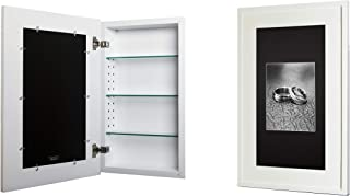 14x24 White Concealed Medicine Cabinet (Extra Large), a Recessed Mirrorless Medicine Cabinet with a Picture Frame Door (Available in Multiple Colors & Styles)