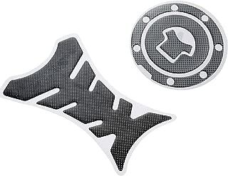 Mtsooning 2Pcs Carbon Fuel Tank Decal Gas Cap Pad Cover Sticker for Honda CBR 250R 500R 1000RR