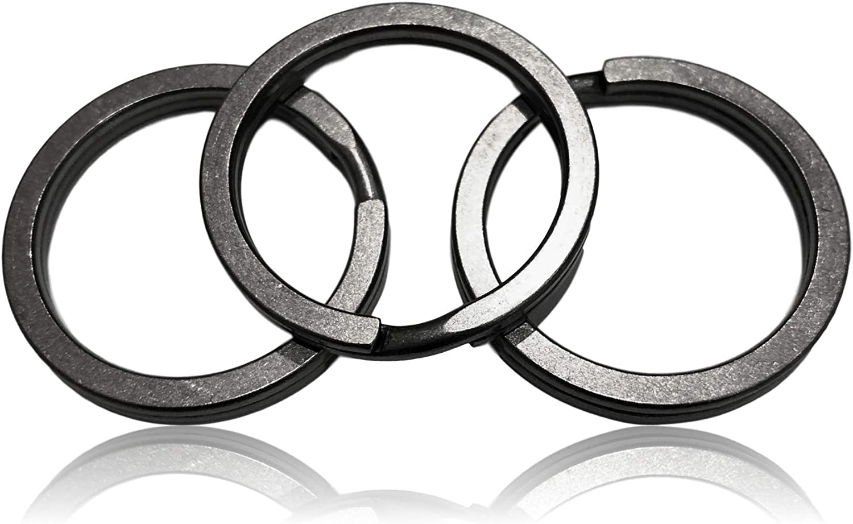 Valtcan Titanium Keyring Key Rings 32mm OD 26mm ID