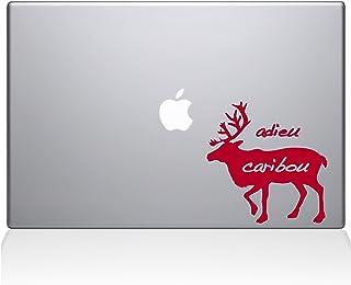 """The Decal Guru 1000-MAC-12M-DR Adieu Caribou Vinyl Sticker, 12"""" Macbook, Red"""