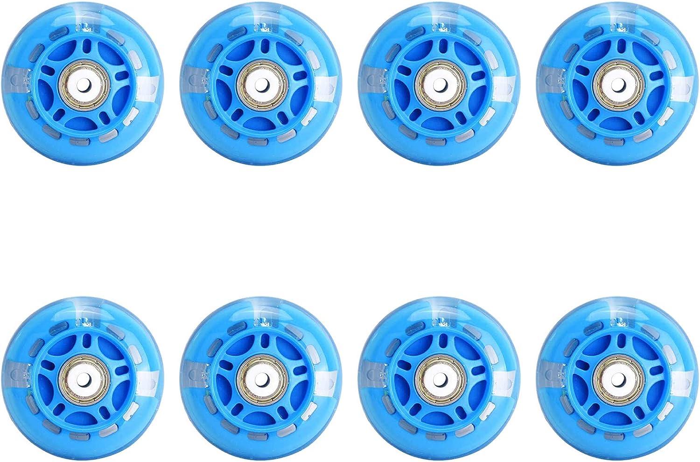 8 St/ück LED Blitz Rollen f/ür Inliner 82A PU Ersatzrad f/ür Kinder die Nachts Skaten Ausgestattet mit ABEC-7 Lagern 64 mm 70 mm 72 mm