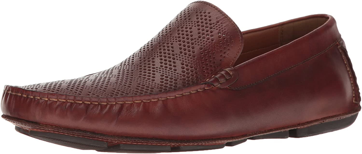 Kenneth Cole REACTION Hommes's Status Symbol Slip-On Loafer, Cognac, 10.5 M US