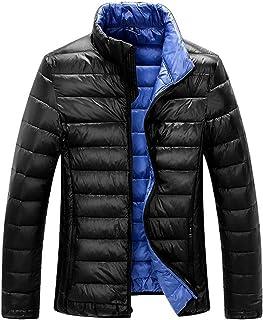 ZSHOW Men`s Lightweight Down Jacket Packable Stand Collar Down Coat Outerwear