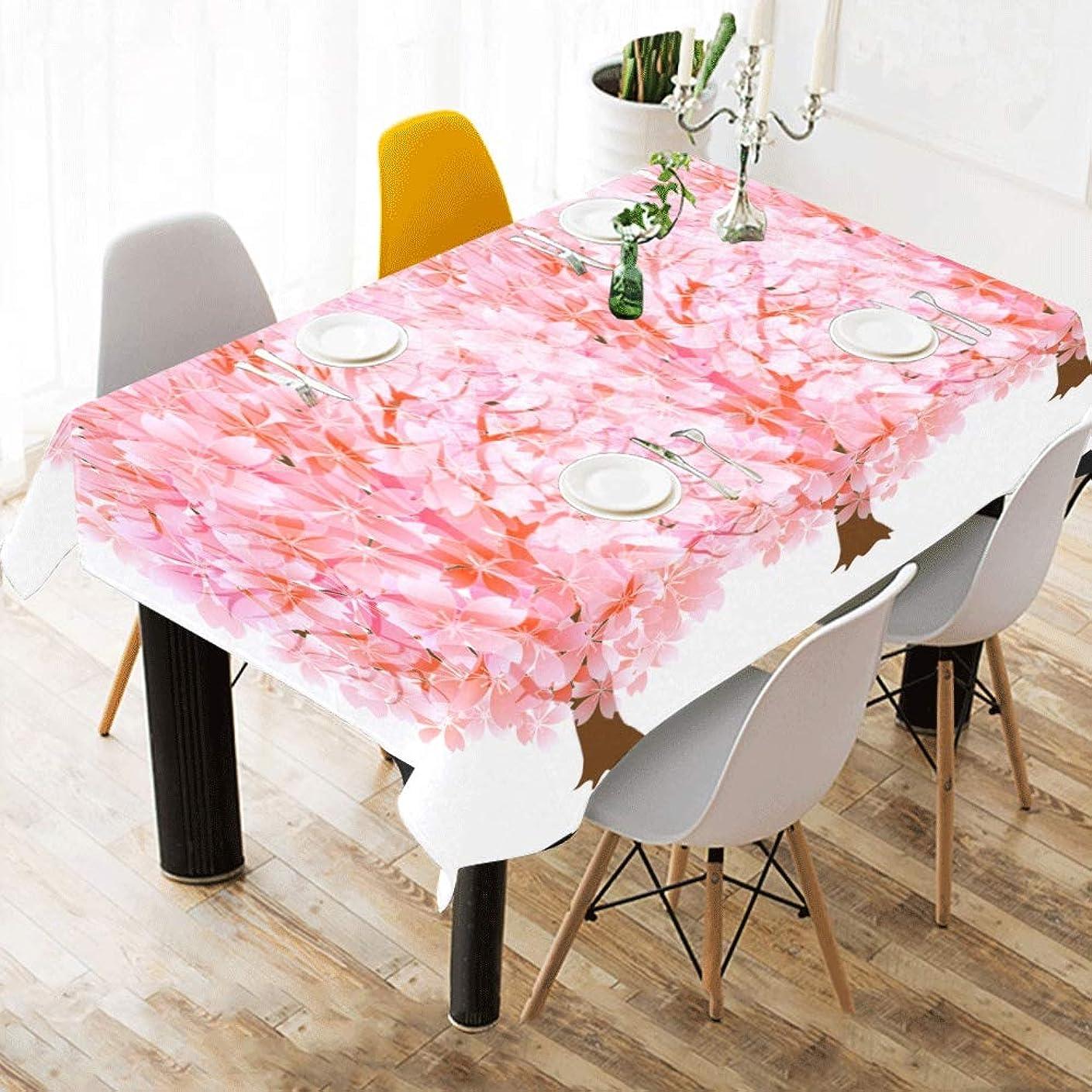 形成ブレーキショートカットLNJKD テーブルクロス ピンクな木 テーブルカバー 食卓カバー コットンリネン 綿 撥水 耐熱 北欧 150*213cm 長方形