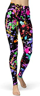 sissycos Women's Artistic Splash Printed Leggings Brushed Buttery Soft Pants Regular and Plus Size (One Size (S-L/Size 2-1...