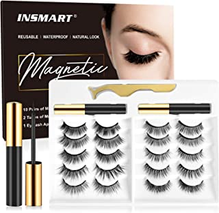 Sponsored Ad - Magnetic Eyelashes and Magnetic Eyeliner Kit - 2 Tubes of Magnetic Eyeliner & 10 Pairs Different Style of M...