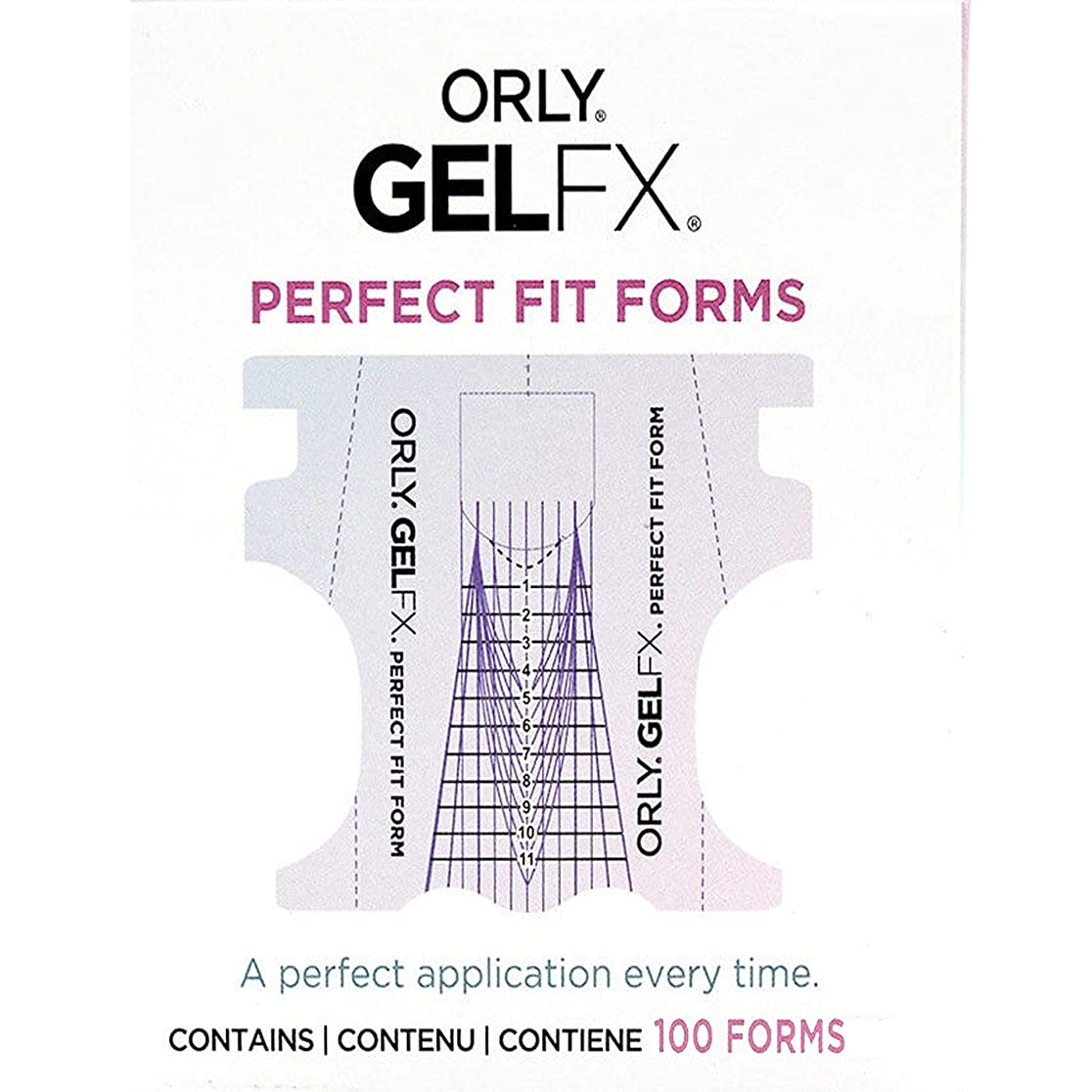 観察チャーミング教育Orly Gel FX - Perfect Fit Forms - 100 count