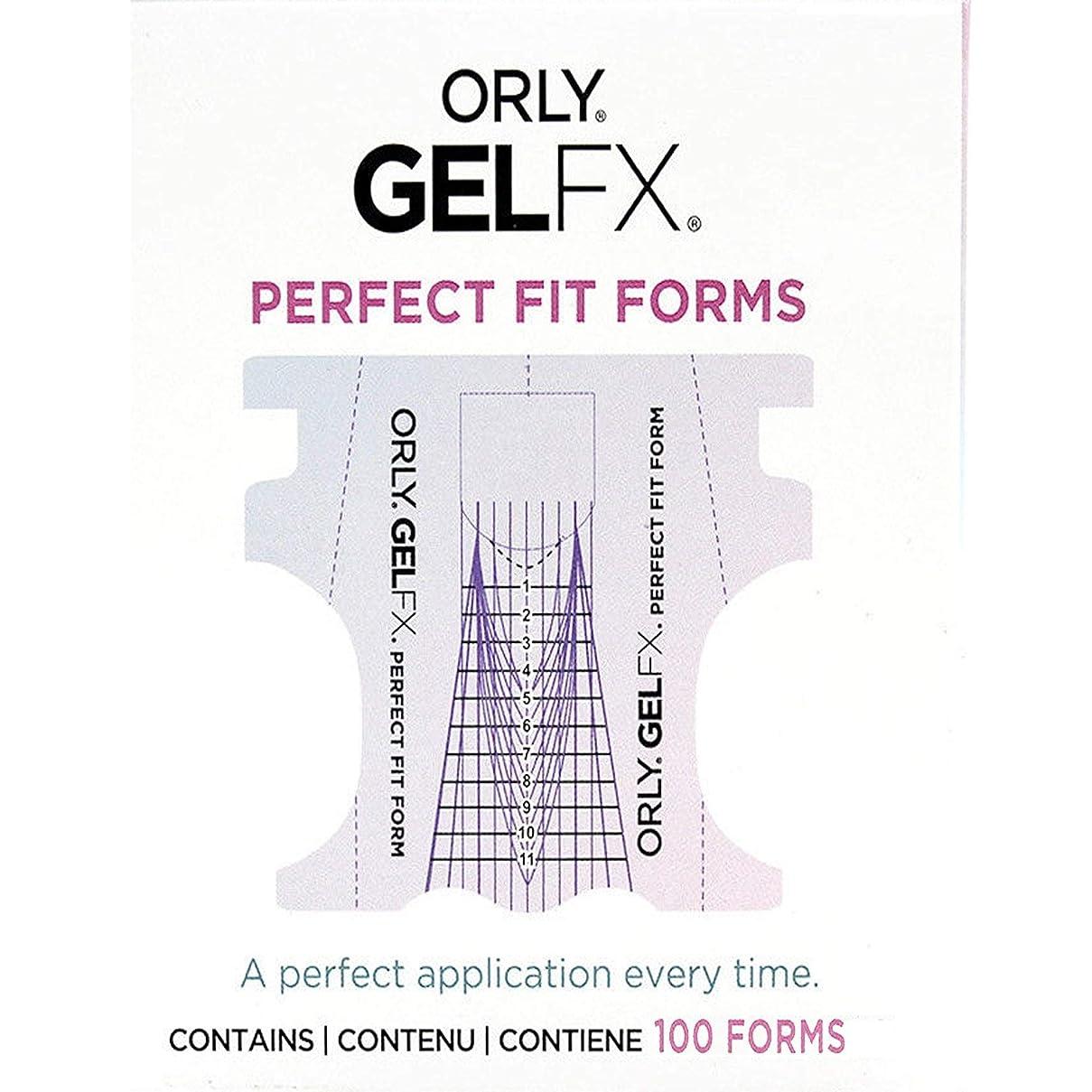 民間人つらいの量Orly Gel FX - Perfect Fit Forms - 100 count