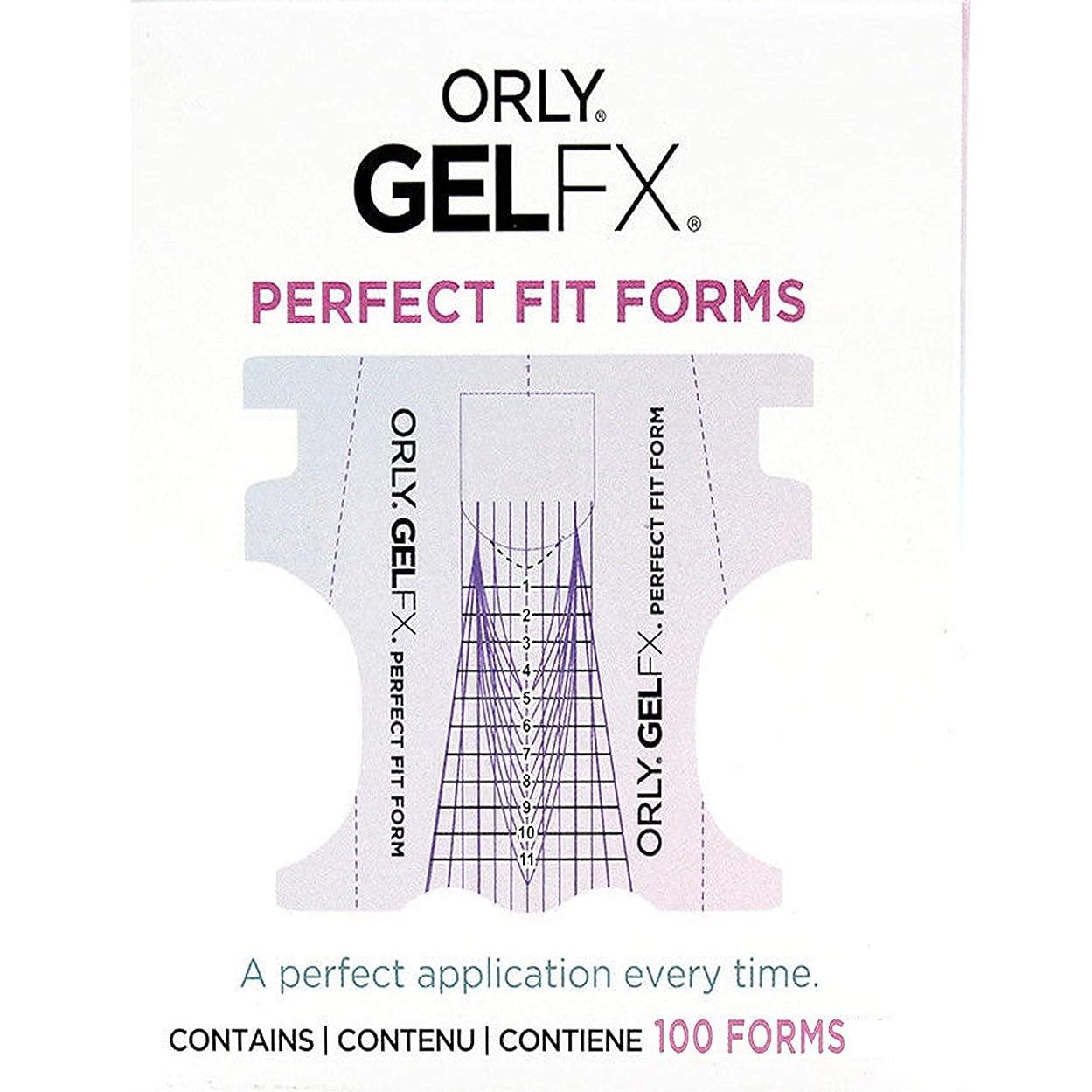 タフ定義上げるOrly Gel FX - Perfect Fit Forms - 100 count