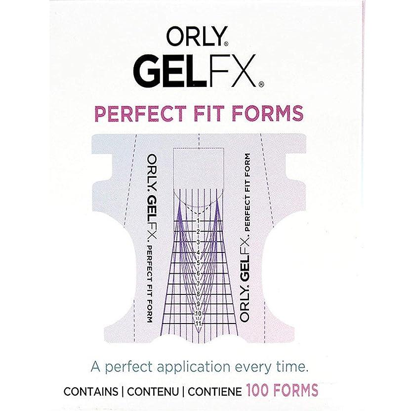 幾分自己尊重適合しましたOrly Gel FX - Perfect Fit Forms - 100 count