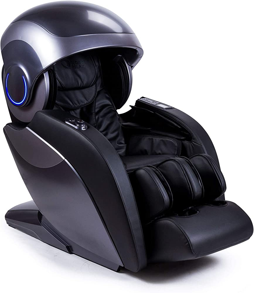 Global relax,poltrona massaggiante shiatsu,sedia da massaggio 4d sistema intelligente di scansione del corpo EU-KRONOS-BLACK-A802-21-2A