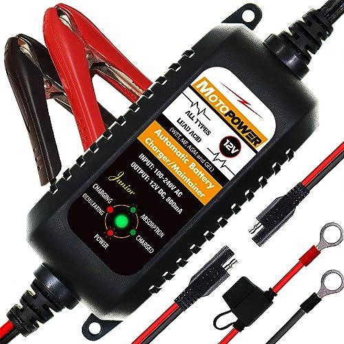 MOTOPOWER 0205A 12V 800mA Entièrement Chargeur de Batterie Automatique/Mainteneur pour Voitures, Motos, ATV, RVS, Pow...