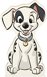 Open Road Brands Disney 101 Dalmatians Patch Puppy Shelf Sitter Décor - Chunky Wood Block Cutout for Kids' Bedroom, Play Room or Office