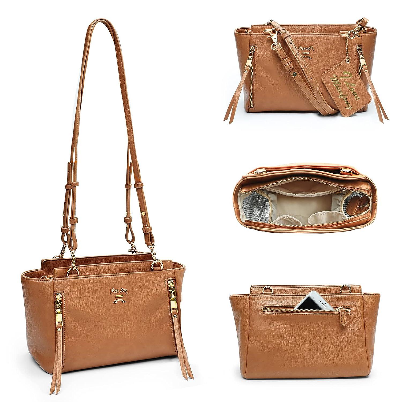 Crossbody Diaper Bags by miss fong, Mini Diaper Bag Includes 6 Pockets