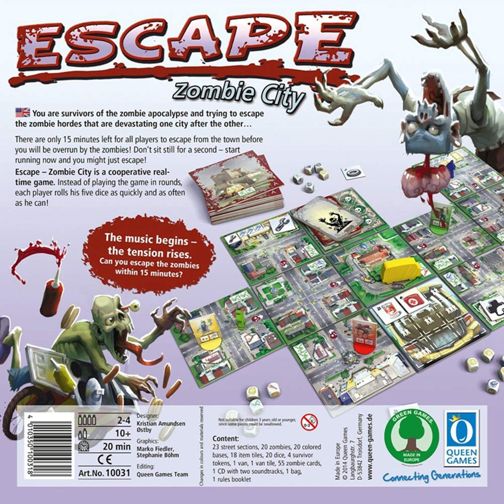 GWLTV Juego de Mesa -Escape Zombi Ciudad Inglés Juego de Estrategia: Amazon.es: Hogar