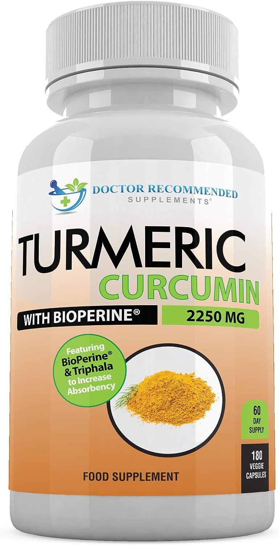 Turmeric Curcumin - Limited Special Price 2250mg d Capsules Curcuminoid 95% Veggie Max 59% OFF