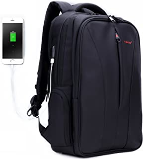 Uoobag Business Laptop Backpack 15.6 16 Inch with USB Charging Port Anti-theft Travel Bags Black