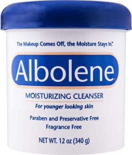 Albolene Moisturizing Cleanser | 3-in-1 Skin Care Product: Makeup Remover, Facial..