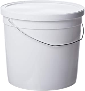 Consolidated Plastics Pail with Handle, HDPE, 6 Quart, White, 10 Piece